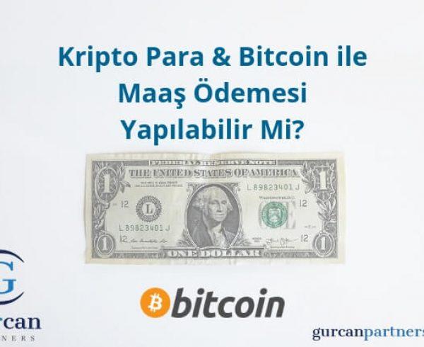 Bitcoin ile maaş ödemesi